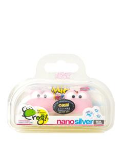 纳米银抗菌青蛙手提式隐形眼镜伴侣盒(粉色)