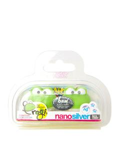 纳米银抗菌青蛙手提式隐形眼镜伴侣盒(绿色)