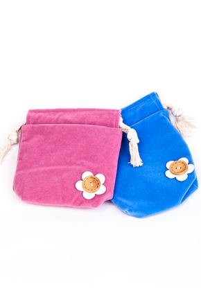 【积分礼品】糖果色花朵束口袋零钱包