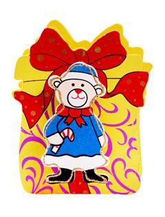 【积分礼品】圣诞老人木质笔筒带便签夹(颜色随机)